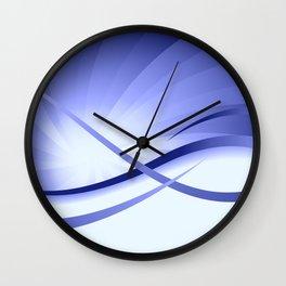 Ruhe - Blautöne Wall Clock