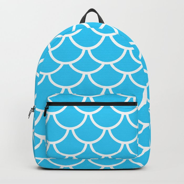 Let´s be mermaids- Aqua Teal Mermaidscales - into the Sea- on #Society6 Backpack