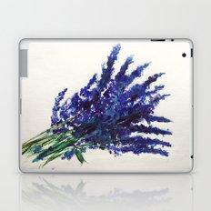 Fresh Cut Lavender Watercolors On Paper Laptop & iPad Skin