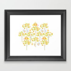 Birds And Oranges Framed Art Print