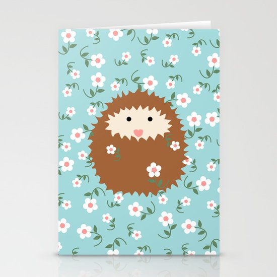 Hedgie in Spring Stationery Cards