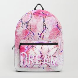 Pink and purple dreamer dream catcher Backpack