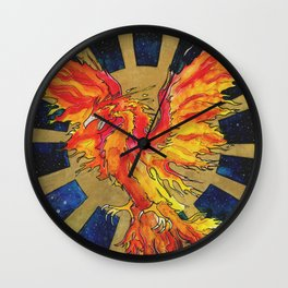 Rise From The Ashes Wall Clock
