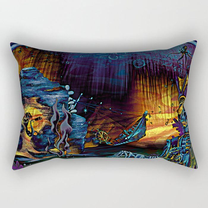 A Pirate's Life For Me-Electric Rectangular Pillow