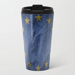 Old Vintage Grunge European Union Flag Travel Mug