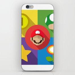 Super Mario flat iPhone Skin