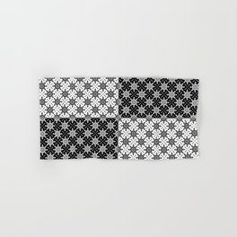 Clover and Blossoms - Color: Black&White Hand & Bath Towel
