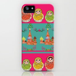 Russian Rainbow Matryoshka iPhone Case