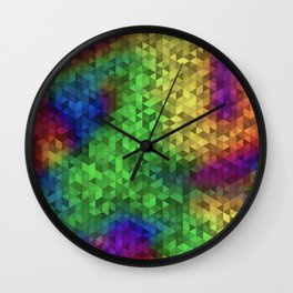 Equilateral Tie Dye Wall Clock