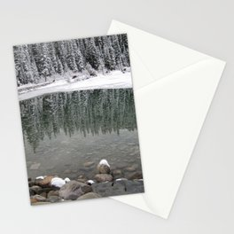 Boat House At Lake Louise Stationery Cards