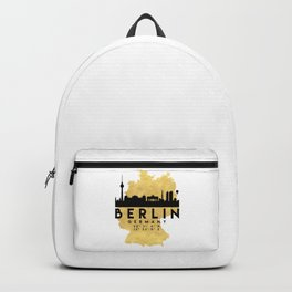 BERLIN GERMANY SILHOUETTE SKYLINE MAP ART Backpack