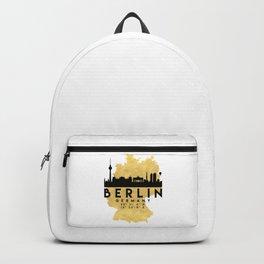 BERLIN GERMANY SILHOUETTE SKYLINE MAP ART Backpack