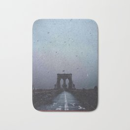 Brooklyn Bridge in the Dark Bath Mat