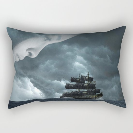 Pirate boat Rectangular Pillow