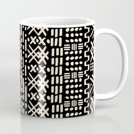 Mudcloth No. 2 in Black + White Coffee Mug