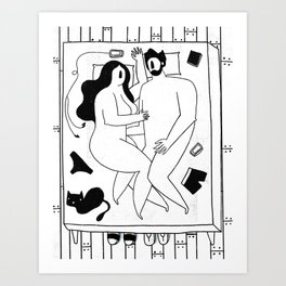 Couple in Bed Art Print