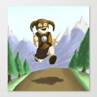 skyrim Canvas Prints featuring Skyrim.. wheeee! by Fancy Panda Studios