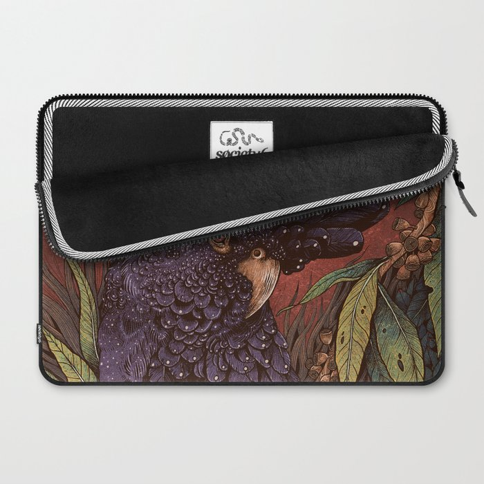 Black Cockatoo Laptop Sleeve