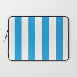 Oktoberfest Bavarian Blue and White Large Cabana Stripes Laptop Sleeve