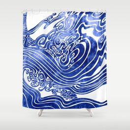 Churn The Deep Shower Curtain