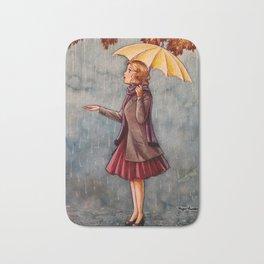 Yellow Umbrella Bath Mat