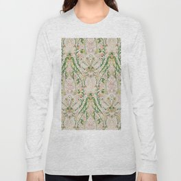 Green Pink Leaf Flower Paisley Long Sleeve T-shirt