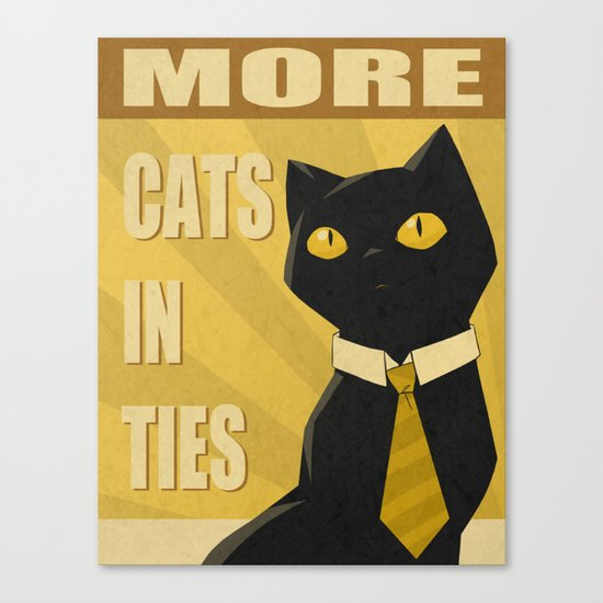 Cats in Ties - PSA Canvas Print