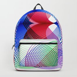 Flower Power geometric  colorful Backpack