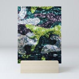 Glam Sequined Camo Mini Art Print