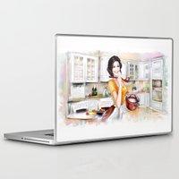 cook Laptop & iPad Skins featuring cook by tatiana-teni