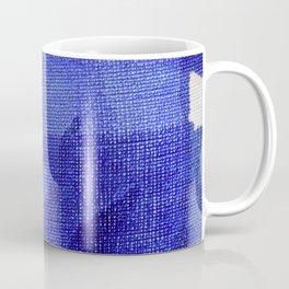 Blue abstract linen Coffee Mug