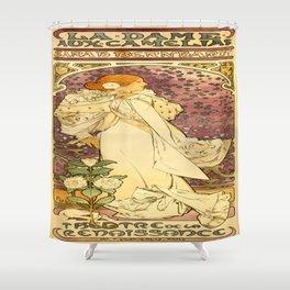 Vintage poster - La Dame Aux Camelias Shower Curtain