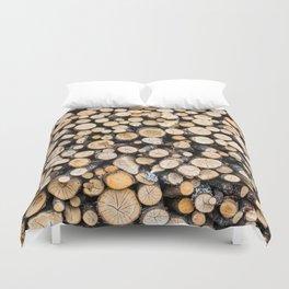 Log Pile Duvet Cover