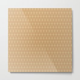 Triangle Gold and Burgundy Pattern Metal Print