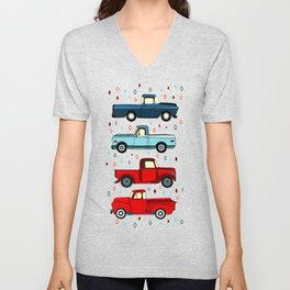 Winter Vintage Trucks Unisex V-Neck