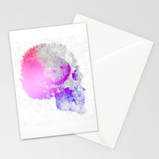 Low poly skull Stationery Cards
