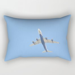 Flying plane enveloped in air Rectangular Pillow