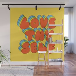 Love Thy Self Retro Graphic Wall Mural