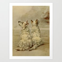 Earl,Maud(1864-1943) -The Power of the Dog1910 Terrier) Art Print
