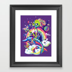 Rainbow Apocalypse Framed Art Print