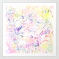 pastel impasto Art Print