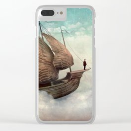 Flying Merchant Clear iPhone Case