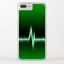 Heart or pulse rate effect Clear iPhone Case