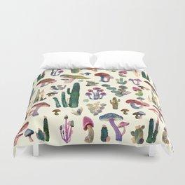 cactus and mushrooms Duvet Cover