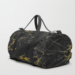 Gold Black Marble Duffle Bag