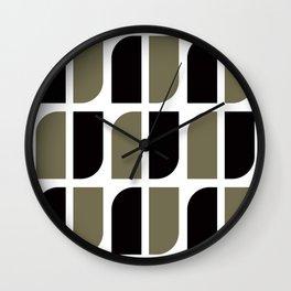 Geometric Pattern #41 (black gray) Wall Clock