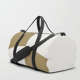Diamond Series Round Checkers White on Gold Duffle Bag