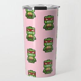 Chibi Raphael Ninja Turtle Travel Mug