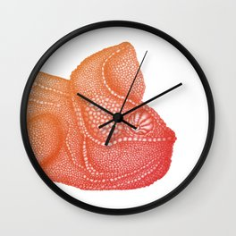 Ombre Chameleon Wall Clock