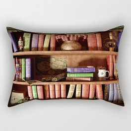 Santa's Bookshelf Rectangular Pillow